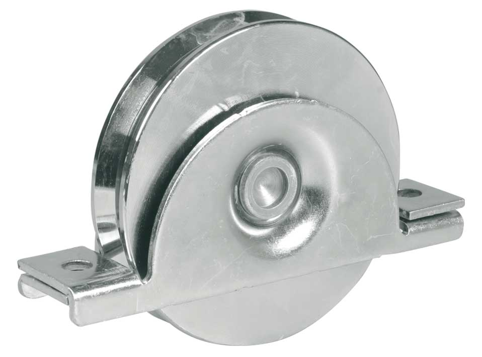 Wheel with internal support sliding gates v groove sale