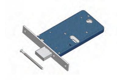 Omec deadbolt lock range for Mechanics Aluminium