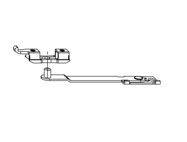 Door opening limiter arm Siegenia Titan Accessory for PVC