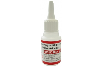 Instant Adhesive Low Viscosity 20g Heicko for Rubbers Plastic and EPDM