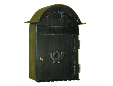 6012 Wrought Iron Curved Roof Mailbox Carrying Envelopes and Newspapers Lorenz