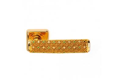 Gold Dream 2 Jewellery PFS Pasini Door Handle with Rose and Escutcheon