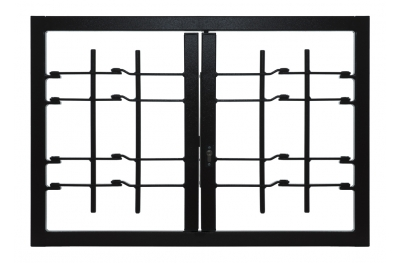 Grating Light 2 Doors with Joint Security Class 3 frame Standard Leon Openings
