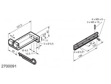 Universal Kit for Fitting Bottom-Hinged Windows WAY Mingardi Micro XL