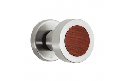 pba 2092.YOD Knob in Wood and Stainless Steel