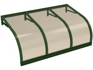 Shelter Cassiopeia Green Bronze Aluminium AMA Sun Protection