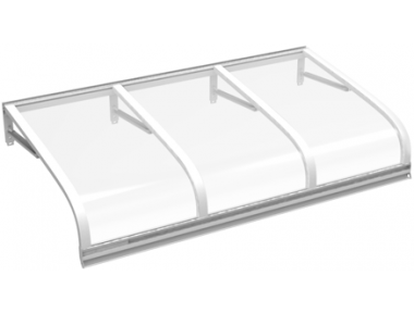 Shelter Euriga White Transparent Aluminium AMA Sun Protection