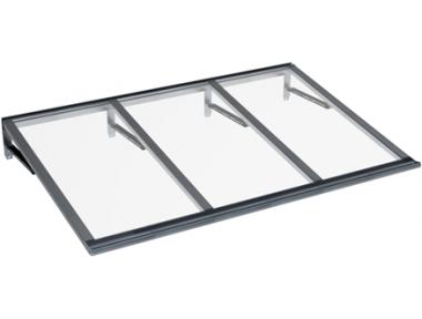 Shelter Lira Grey Transparent Aluminium AMA Sun Protection