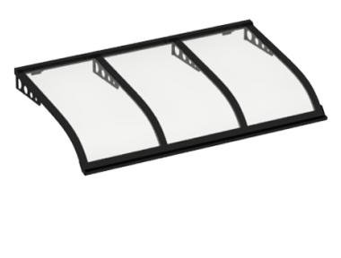 Shelter Sailing Style Attack in Black Wall Transparent Aluminium AMA