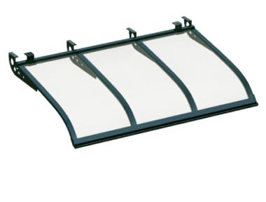 Shelter Sailing Style Attack Ceiling Green Transparent Aluminium AMA