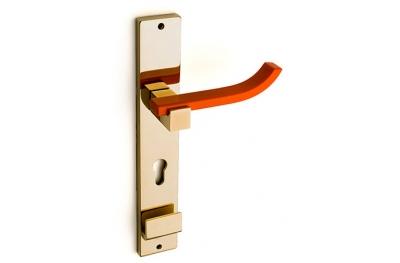 Plus Up Corian Mandarin Door Handle on Plate Fashion Line PFS Pasini