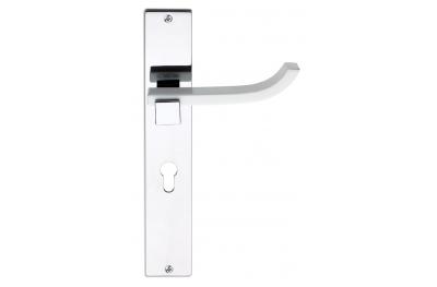 Plus Up Corian White Door Handle on Plate Fashion Line PFS Pasini