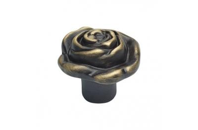 Classic Cabinet Knob Linea Calì Rose PB with Matt Bronze Finishing