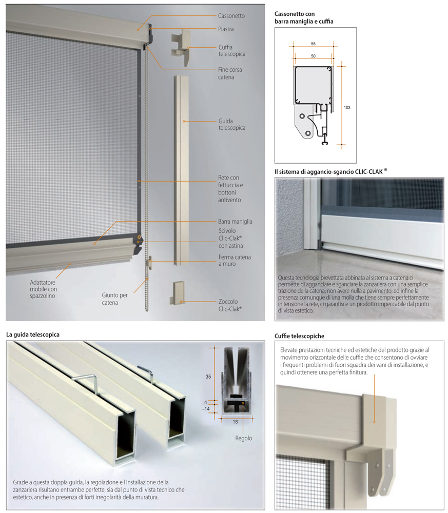 Mosquito Net Mosquito Giudy Bettio Vertical Chain Buy Online Windowo