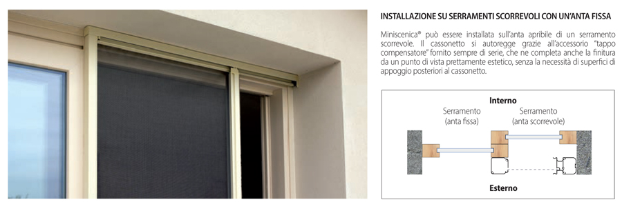 Miniscenica Bettio installation on sliding doors