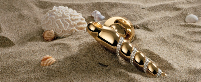 shell Mesh Handle Swarovski Crystals Linea Calì