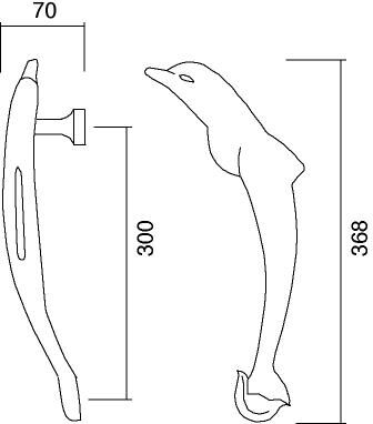 Technical drawing dolphin Pasini