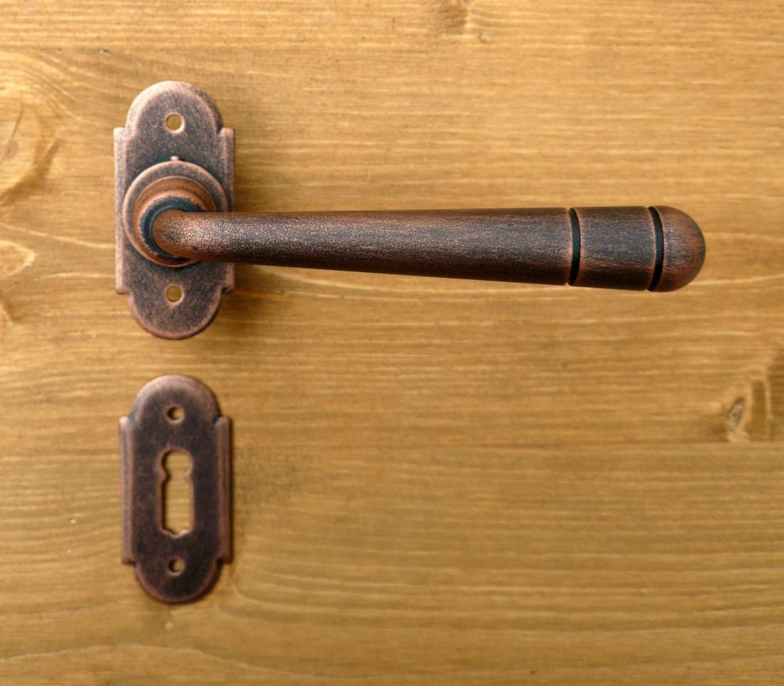 ... Bern 2 Galbusera Door Handle With Rosette And Escutcheon Plate