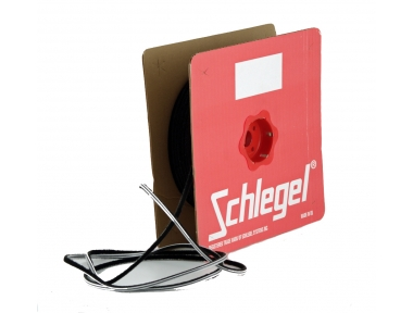 Brush seal Schlegel Polybond 6,9x7mm Without Fin Black Roll 225m
