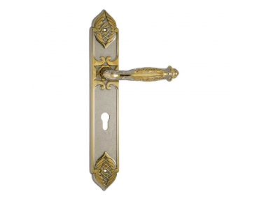 1070/1010 Emerald Class Door Handle on Plate Frosio Bortolo of Arabic Style