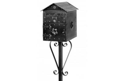 1084 Galbusera Scaffold Pole Mail and Bread Box Artistic Wrought Iron