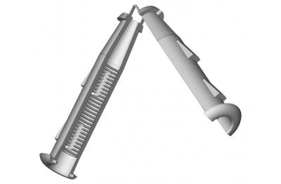Piece to Cardine M12 Shaving Wall 5mm ESINPLAST