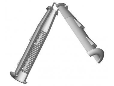 Piece to Cardine M12 Shaving Wall 10mm ESINPLAST