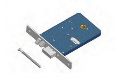 Deadbolt and latch Omec Not Reversible lock Aluminium Range Electric