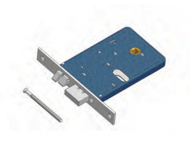 Deadbolt and latch Omec Not Reversible lock Aluminium Range Electric