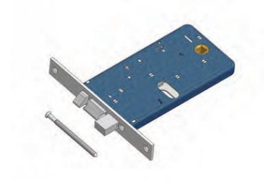 Deadbolt and latch lock Omec Aluminium Range Electric