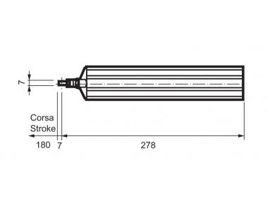 Rod Actuator WAY Mingardi D4 Fce Stroke 180mm
