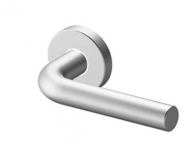 Pair of Door Oslo Tropex Door Handles Satin Stainless Steel Round or Oval Rose