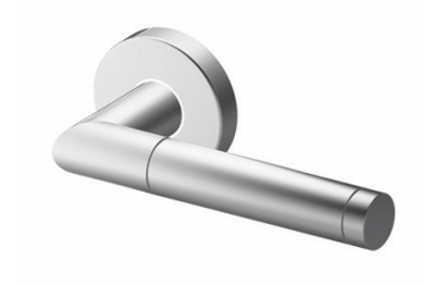 Pair of Edinburgh Tropex Door Handles Satin Stainless Steel Round or Oval Rose