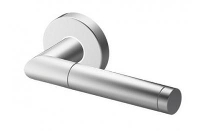 Pair of Edinburgh Tropex Door Handles Satin Stainless Steel Round or Oval Rose