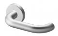 Pair of Stockholm Tropex Door Handles AntiGerm Satin Steel Round or Oval Rose