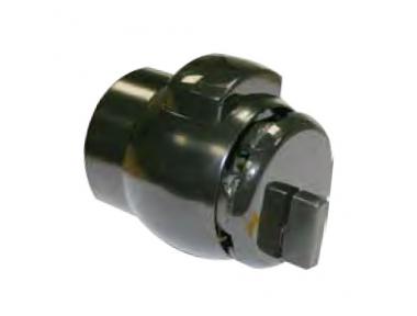 12 Knob PremiApri for Bathrooms Tubular Lock with Button Nova Series Meroni