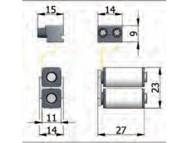 Coils Group Omec electric lock in range for Aluminum