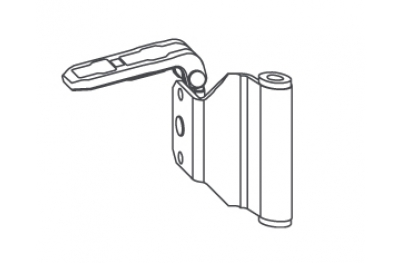 Angle Oblique strap hinge Siegenia Titan KF-SF