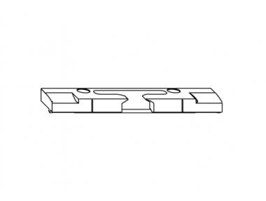 Flip Horizontal reflected S-ES-FH Siegenia Titan for PVC Threshold