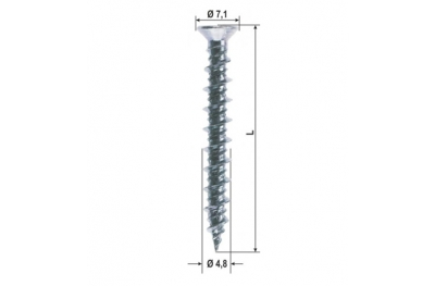 Window Repair Screw Different Measures 1000 Pieces Heicko