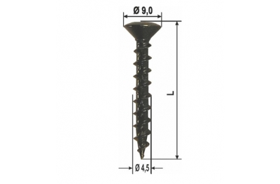 Fixing screws Dark-Shutters Galvanized Various sizes and packaging HEICKO