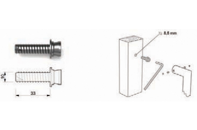 Fixing Kit Tropex 01 for Single Pull Handle