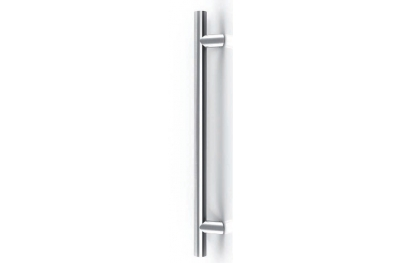 Frankfurt Stainless Steel Pull Handle Tropex Ø25 Bevel Supports