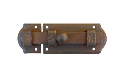 1894 Galbusera Horizontal Bolt 115x40mm Wrought Iron