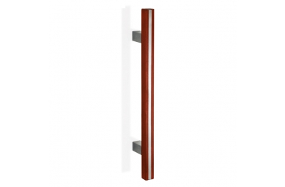 200.YOD.211 pba Pull Handle Wood and Stainless Steel AISI 316L