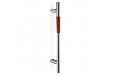 200.YOD.411 pba Pull Handle Wood and Stainless Steel AISI 316L
