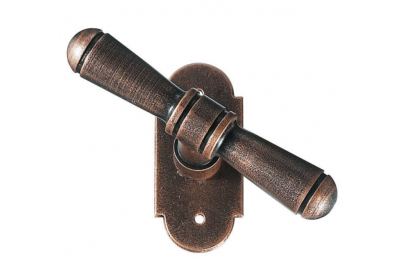 2095 Bern Galbusera Window Handle with Rosette Wrought Iron