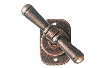 2096 Bern Galbusera Window Handle with Rosette Wrought Iron
