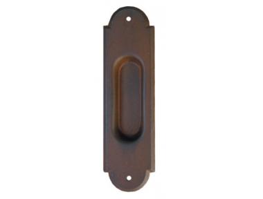 2128 Galbusera Sliding Door Pull Wrought Iron