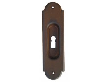 2129 Galbusera Sliding Door Pull Wrought Iron